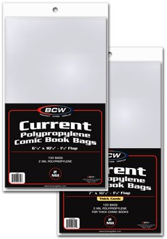 100 - BCW Current THICK Comic Book Bags (100 Sleeve(s) per Pack)