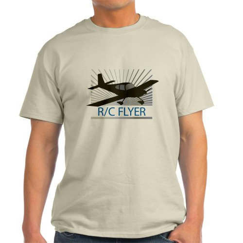 CafePress RC Flyer Low Wing Airplane Light T-Shirt – L Natural
