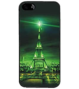 PrintDhaba Tower D-5421 Back Case Cover for APPLE IPHONE 5S (Multi-Coloured)