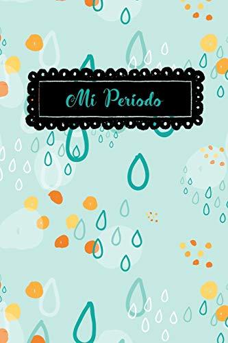 Mi Periodo Cuaderno del  Periodo Menstrual,  Rastreador del Ciclo Menstrual, 6 x 9 /120 Paginas  [Luna, Pixy] (Tapa Blanda)