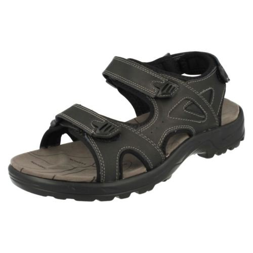 mens-leather-upper-velcro-straps-sandal-with-cross-strap-front-and-padded-insole-11-uk-black