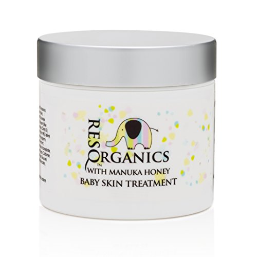 ResQ Organics Baby Skin Care Cream - Soothing Natural Face & Body Moisturizing Treatment - Effective Relief from Dry, itchy, irritated skin caused by Diaper Rash, Cradle Cap, Eczema, Hives and more!