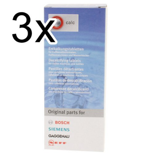 Bosch Decalcifying Tablets For Coffee Machines And Kettles, Pack Of 3