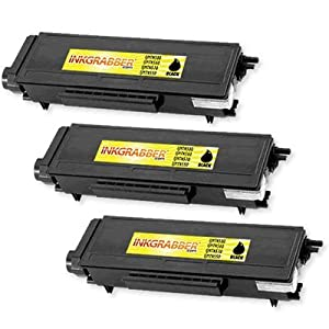 InkGrabber © 3 Pack of Brother Compatible (TN530, TN560) High Capacity Black Laser Toner Cartridges