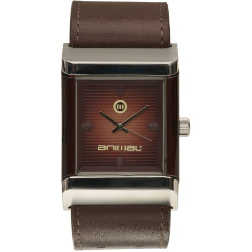 Animal-Mens-Quartz-Watch-with-Brown-Dial-Analogue-Display-and-Brown-Leather-Str