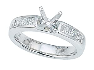 Karina B (tm) Princess Diamonds Engagement Ring in Platinum 950 Size 5