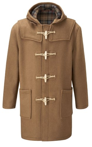 Mens Duffle Coat Wooden Toggles -- Camel -- 38