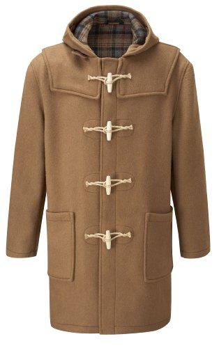 Mens Duffle Coat Wooden Toggles -- Camel -- 46