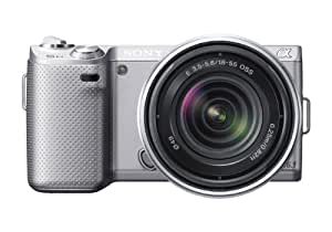 Sony NEX-5N 16.1 MP Compact Interchangeable Lens Touchscreen Camera With 18-55mm Lens (Silver)