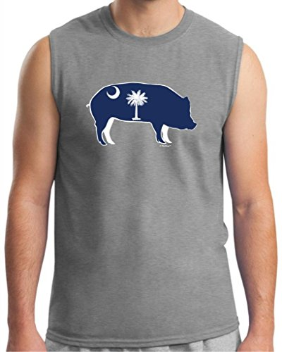 South Carolina Bbq Barbeque Capital Sleeveless T-Shirt Large Sport Grey