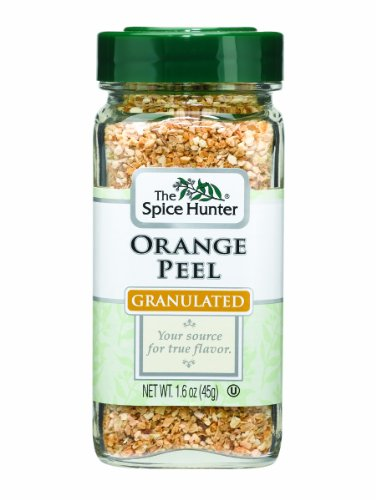 The Spice Hunter Orange Peel, Granulated, 1.6-Ounce Jars (Pack of 6)