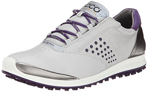Ecco Womens Biom Hybrid Golf Shoes - Concrete/imperial Purple
