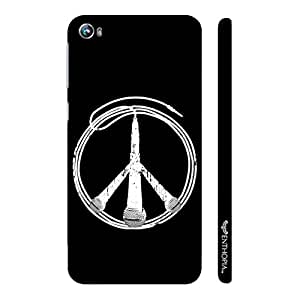 Micromax Canvas Fire 4 A107 Peace is Music designer mobile hard shell case by Enthopia