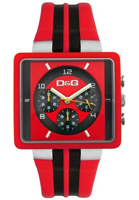 D&g Dolce & Gabbana Dg Dolce Gabbana Men's Dw0064 Cream Chronograph Red Watch