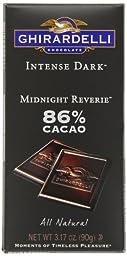 Ghirardelli Chocolate Intense Dark Bar, Midnight Reverie, 3.17 oz., 6 Count