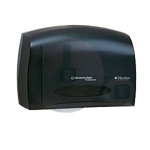 Kimberly-Clark Professional In-Sight 09602 Smoke Grey Coreless JRT Bath Tissue Dispenser