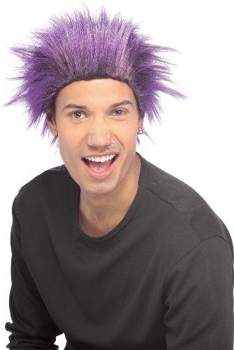 Rubie's Costume Club Dude Wig, Purple, One Size