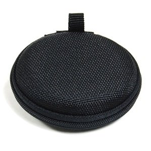 Cosmos ® Black EVA ear/headphone/earphone/earbuds / earpods Case/bag - clamshell/MESH Style with Zipper Enclosure, Inner Pocket, and durable exterior also for storing iPod Shuffle 2nd 4th gerneration, iPod Nano 6th generation + Cosmos cable tie