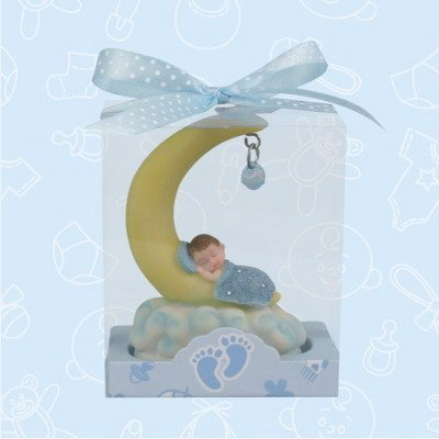 36 Baby Shower Baby Boy Sleeping On Moon Favor In Box Favors Gift Keepsake Favor front-1079925
