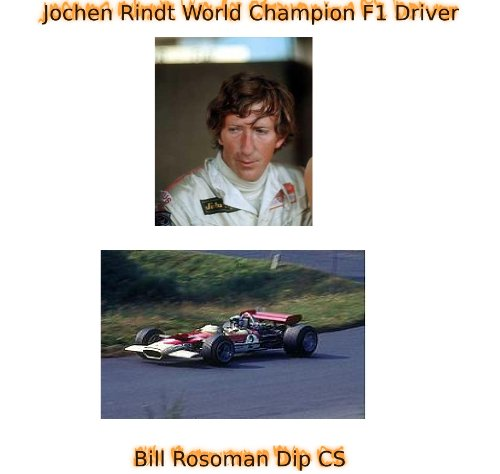 Jochen Rindt World Champion F1 Driver