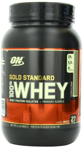 Optimum Nutrition Gold Standard 100% Whey Protein Powder Drink Mix Cookies and Cream 908g