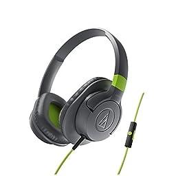 Audio-Technica ATH-AX1iSGY SonicFuel Over-Ear Headphones for Smartphones, Grey
