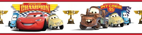 RoomMates RMK1517BCS Piston Cup Champion Peel & Stick Border