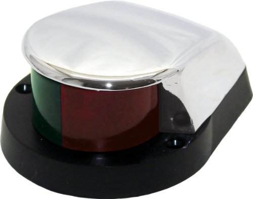 Shoreline Marine Bi-Color Zamac Bow Light Red/Green