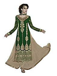 Jiya Presents Lehenga Choli(Chikoo,Green)