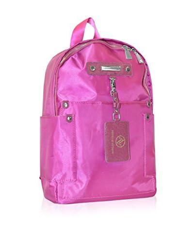 "Adrienne Vittadini 15"" Lightweight Nylon Backpack, Raspberry As You See"