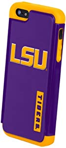 Buy Forever Collectibles NCAA LSU Tigers Dual Hybrid Hard Apple iPhone 5 5S Case by Forever Collectibles