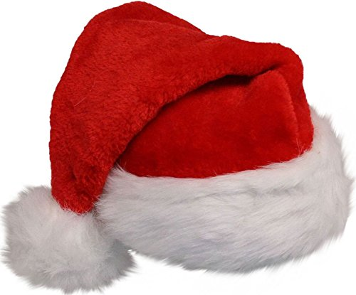 Plush Santa Hat For Adult Party Accessory Christmas Accessory By U-Beauty