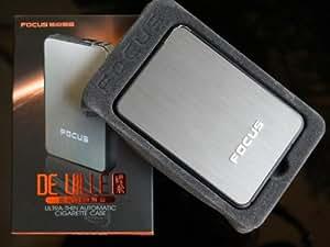 """FOCUS """"De Ville"""" Ultra thin Automatic Ejection Cigarette Case Lighter iPHONE"""
