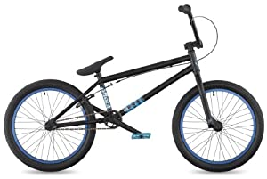 "DK Effect 2011 BMX Bike, 20"" Black with cyan rims"