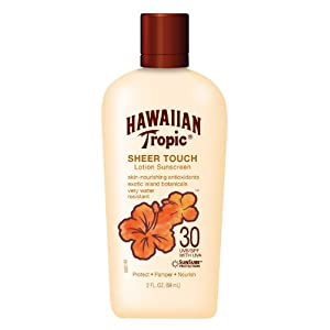 Hawaiian Tropic Sheer Touch SPF 30 Lotion, 2-Fluid Ounce (Pack of 4)