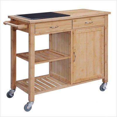 Buy low price linon granite top kitchen cart 46460walgt 01 kd u kitchen furniture bargain - Cheap kitchen island cart ...