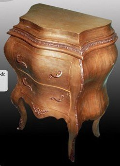 baroque chest of drawers antique style with leaved gold MoGl0296