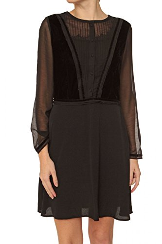 Maison Scotch Silk Dress , Color: Black