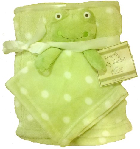 Frog Security Blanket Lime Green Polkadot 2 Baby Blankets front-980478