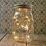 Mason Jar Light - 16 Oz. Pint - Warm White Battery Op. Fairy Lights