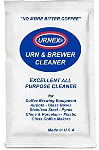 20PK - URNEX URN & BREWER COFFEE EQUIPMENT CLEANER. Perfect for: Airpots - Glass Bowls - Servers Stainless Steel - Plastic - Glass by Urnex