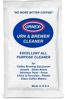 20PK - URNEX URN & BREWER COFFEE EQUIPMENT CLEANER. Perfect for: Airpots - Glass Bowls - Servers Stainless Steel - Plastic - Glass