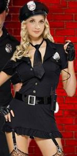 Ladies Police Woman Police Officer Copper Fancy Dress