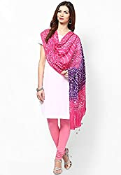 Soundarya Ethnicwear Cotton Bandhej Handwork Dupatta for Women (3061)