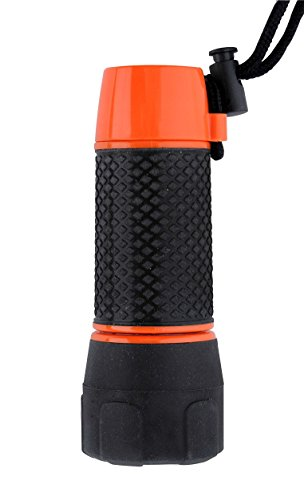 Pfiffikus 42425 - Kompakt Kombi-Taschenlampe, rot/schwarz