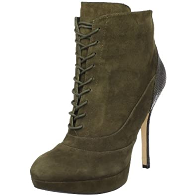Joan & David Collection Women's Faunce Boot,Green Suede,10 M US