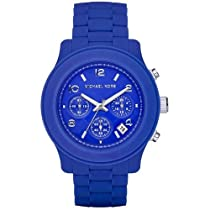 Michael Kors Blue Silicone Chronograph Ladies Watch MK5293