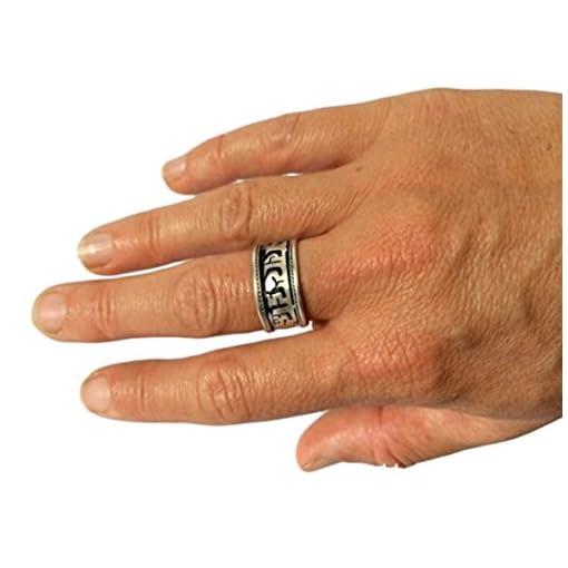 Hnde-von-Tibet-handgefertigt-versilbert-Buddha-des-Mitgefhls-Ring