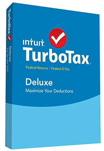 TurboTax Deluxe 2015 Federal + Fed Efile Tax Preparation Software – PC/MacDisc