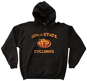 NCAA Iowa State Cyclones 50 50 Blended 8-Ounce Vintage Mascot Hooded Sweatshirt,... by SDI